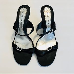 Chinese Laundry Shoes - Chinese Laundry strappy black rhinestone sandals